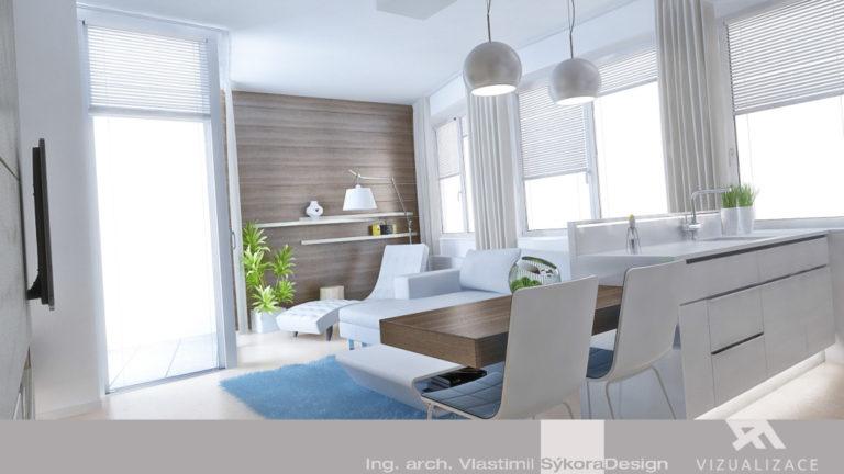 3D návrh - obývací pokoj
