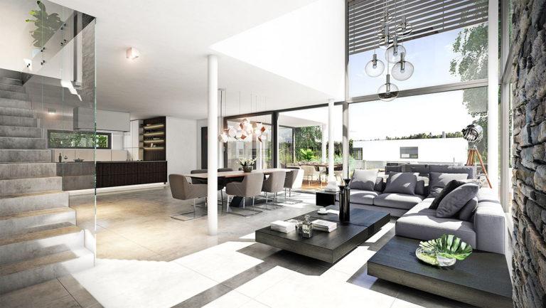 3D vizualizace interiéru domu