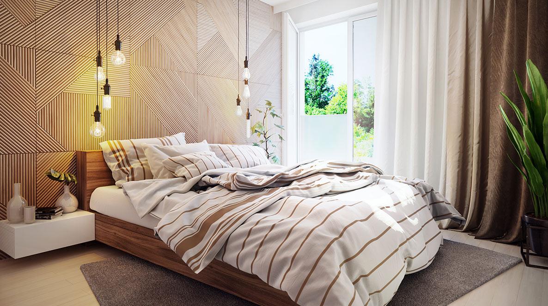 Fotorealistická vizualizace ložnice