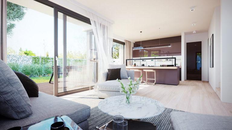 Prostorný obývací pokoj