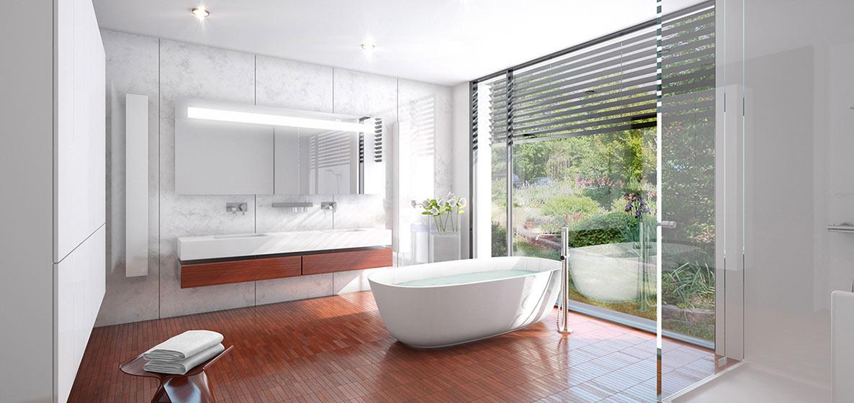 Vizualizace koupelen v developerském projektu