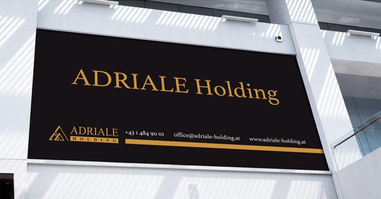 Návrh neutrálního billboardu pro značku Adriale Holding
