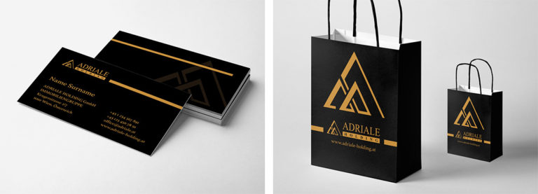Možnost využití loga na reklamní předměty jako jsou vizitky a tašky