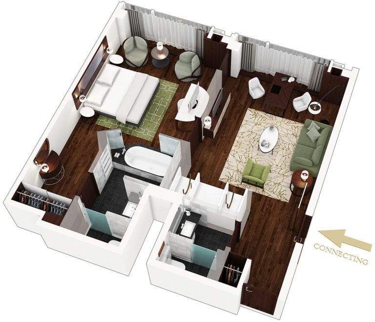 3D půdorys bytu