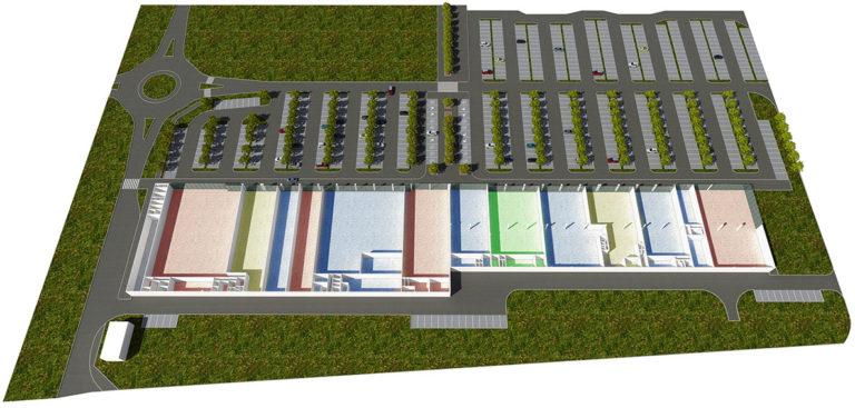 3D půdorys nákupního centra